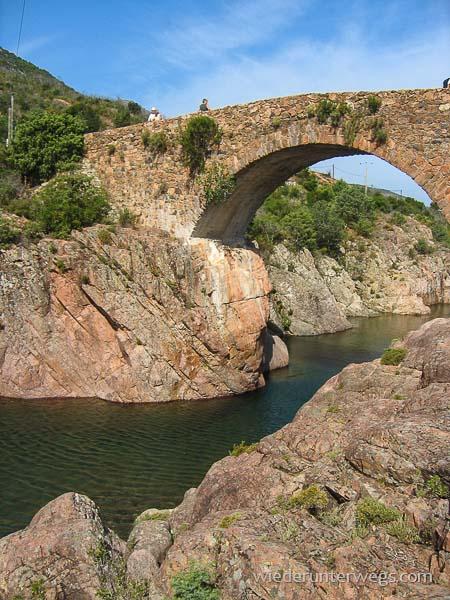 Fangotal Genueserbrücke Korsika Flussbaden