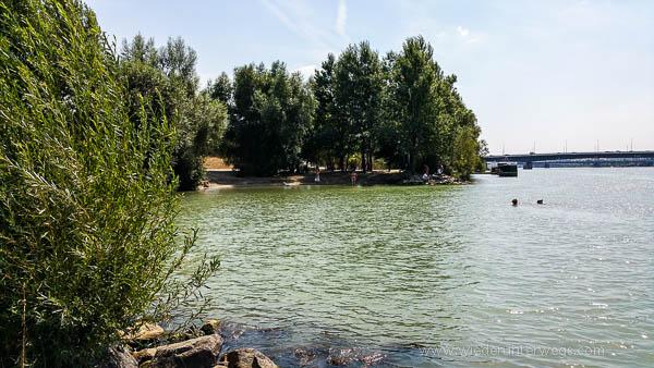 schöner Badestrand Hundezone Donauinsel