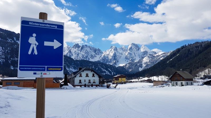 Gosau Krippenstein Hallstättersee Ausflug winterwanderweg