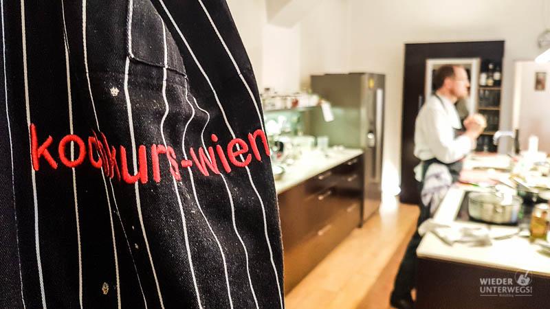 Kochkurs Wien Hüttl Schürze