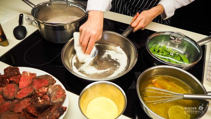 kochen kochkurs pfanne wien