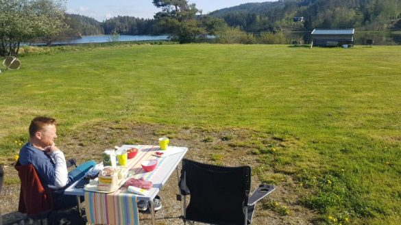 Campingplatz Norwegen Süden am See