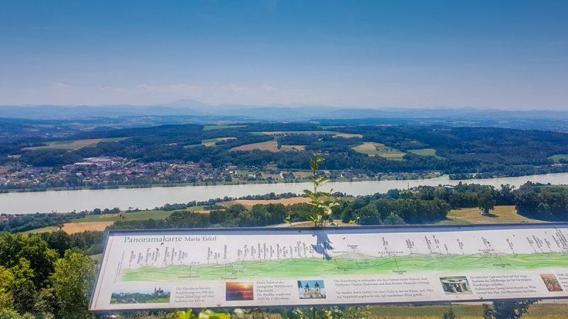 Donau bei Maria taferl ausblick