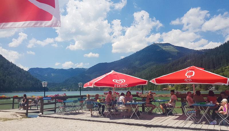 terrasse strandbuffet erlaufsee