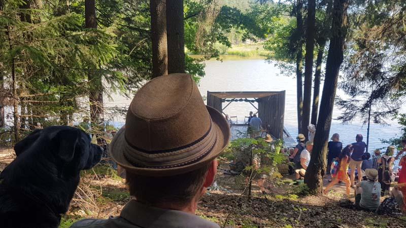 Bühne am Floß am Herrensee SChrammelklang
