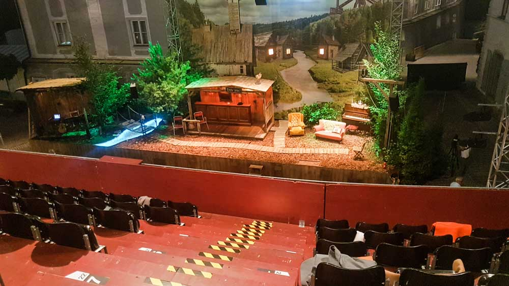Bühne von oben Theatersommer Haag