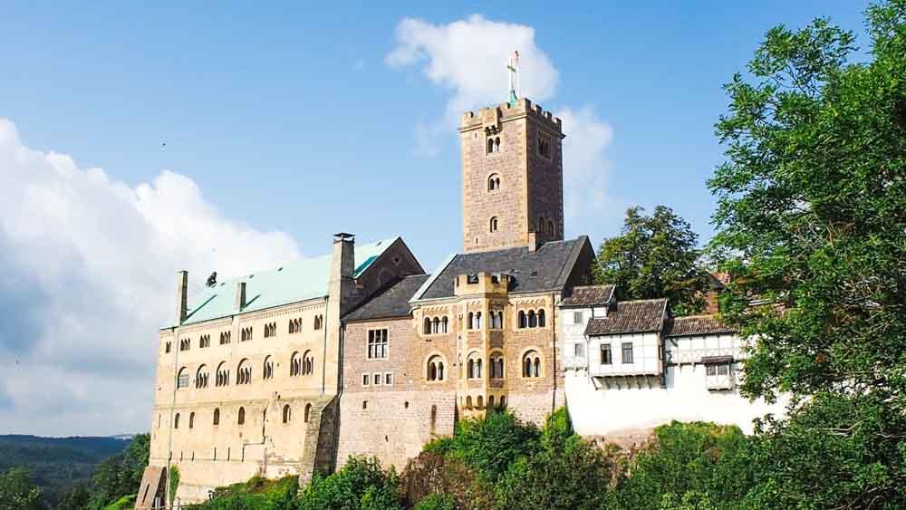 Die Wartburg bei Eisenach in Thüringen