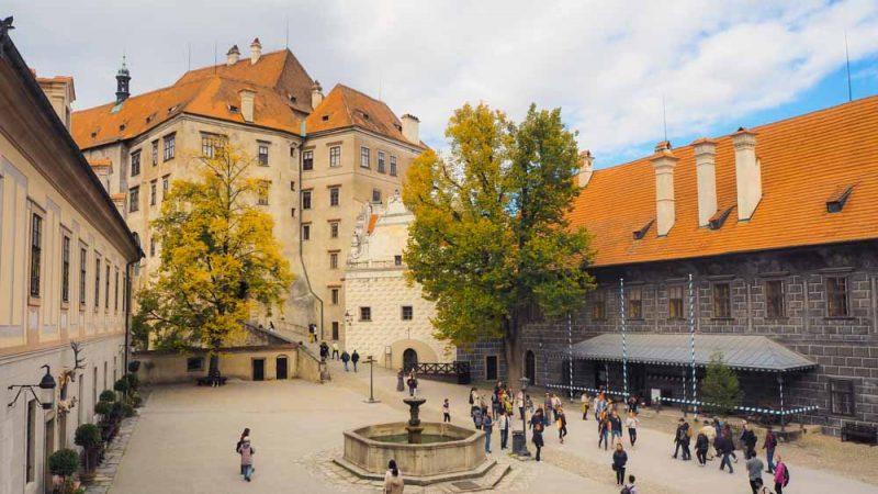 Schlossinnenhof Krumau