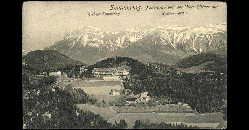 Kurhaus Semmering, alte Postkarte
