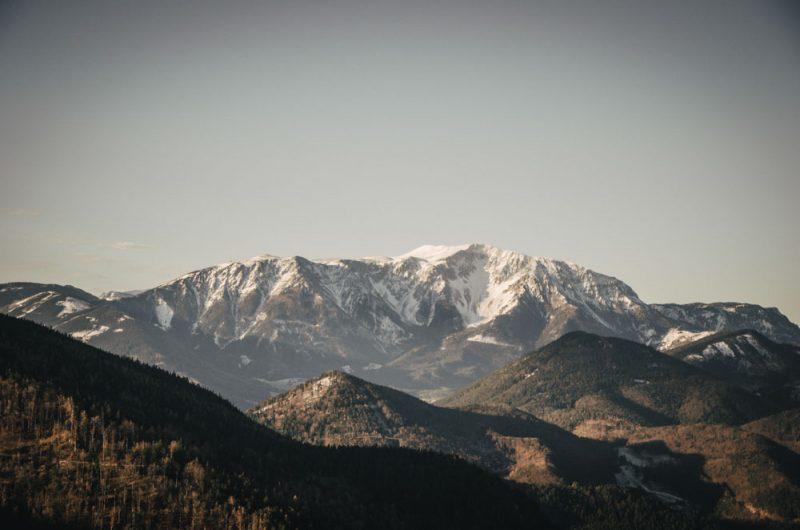 Blick von der Kanzel auf den Schneeberg