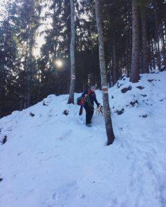 steig im schnee