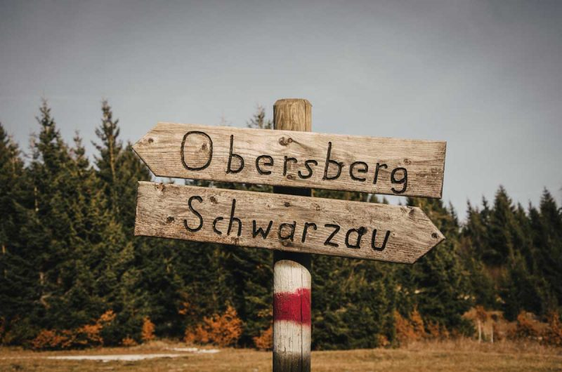 Schilder Wanderung Obersberg