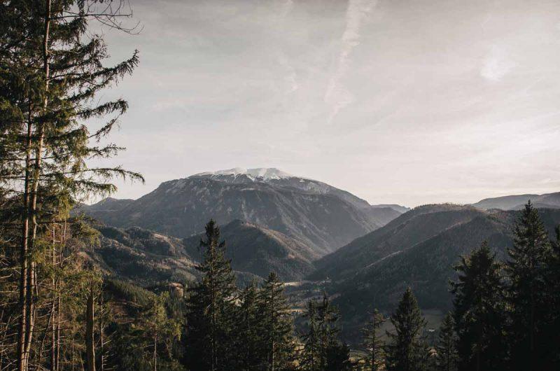 Ausblick vom Obersberg auf SChneeberg