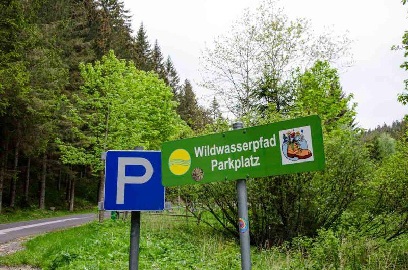 parkplatz mariensee wildwasserpfad