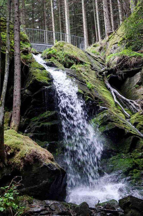 Wasserfall beim Wildwasserpfad Mariensee