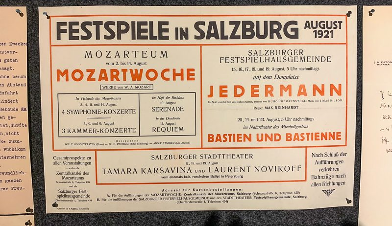 Salzburg Museum Theaterzettel