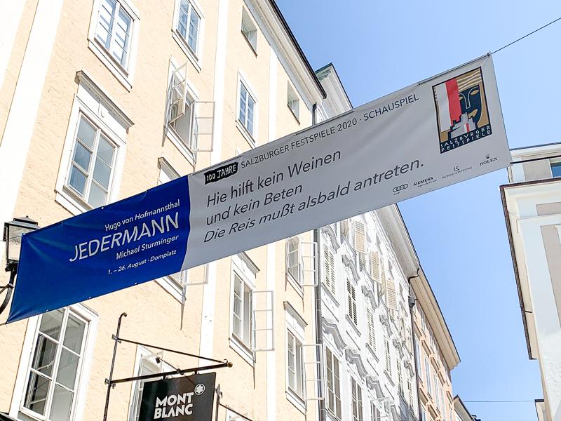 Jedermann Plakat in der Altstadt
