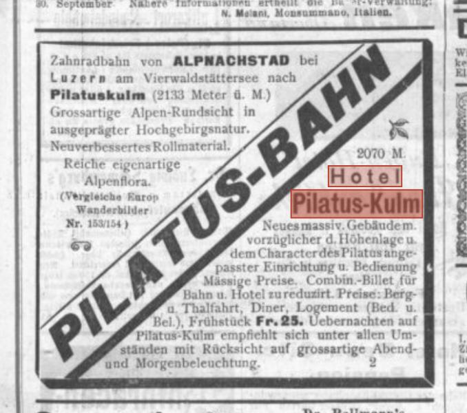 pilatus werbung 1899