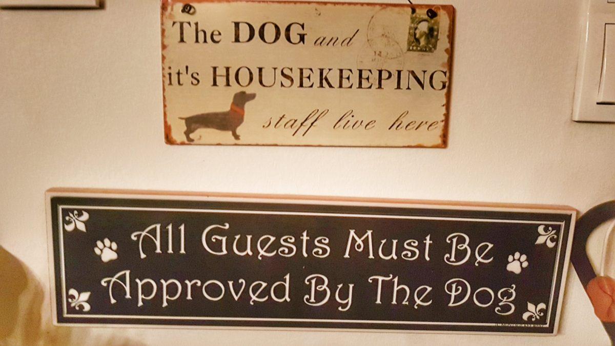 Türschilder als Weihnachtsgeschenke für Hunde