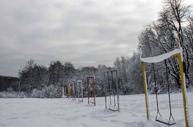 Schaukeln Sophienalpe im Winter