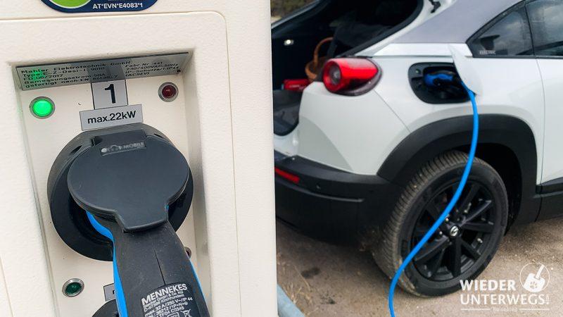 elektroauto laden mit 22 kw
