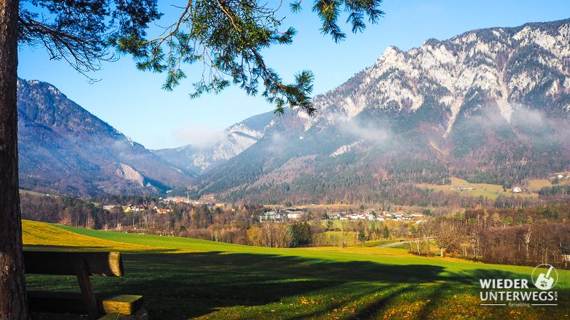 Ein Winterspaziergang zu den Villen von Reichenau an der Rax