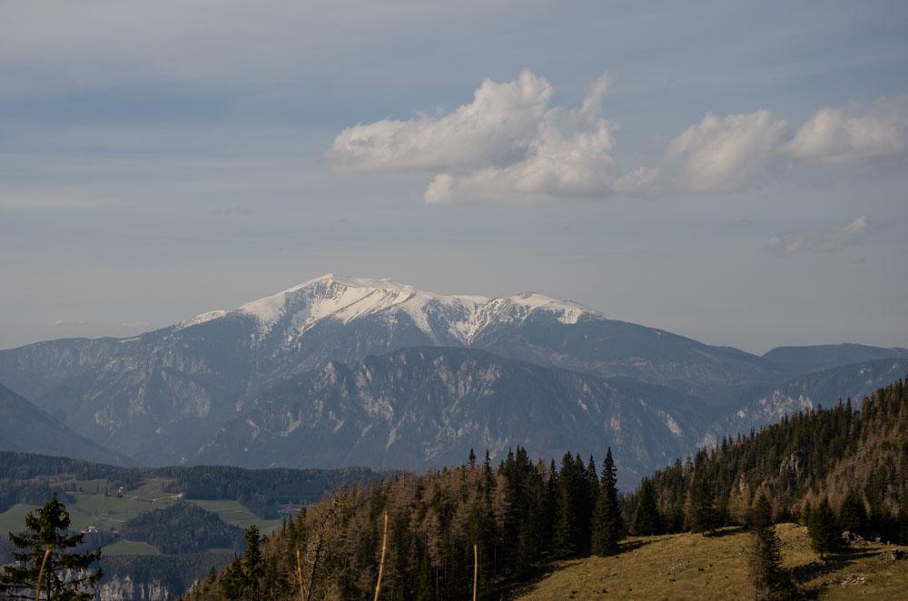 ausblick auf schneeberg semmering wandern
