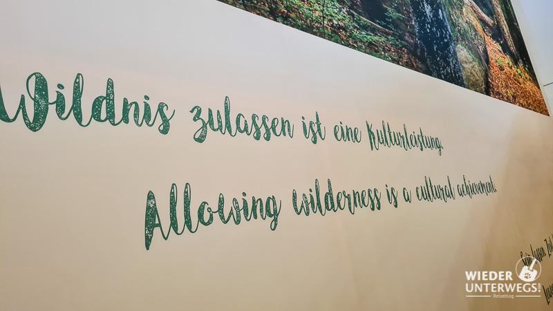 Wildnis zulassen - Spruch