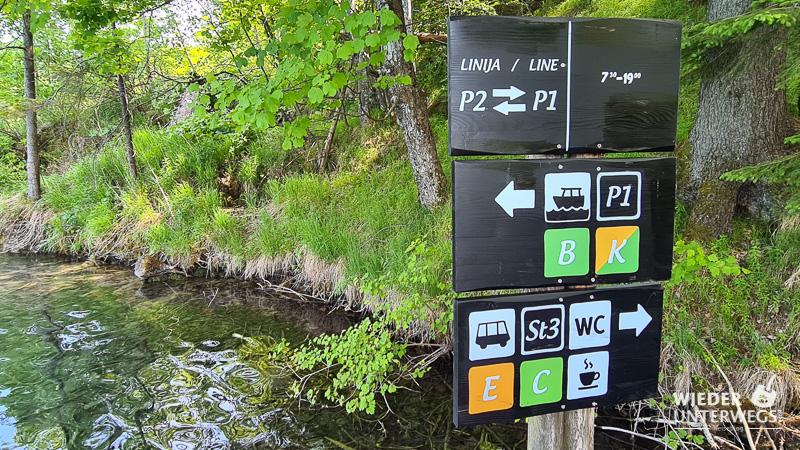 wandertafeln anleitung nationalpark plitvicer seen