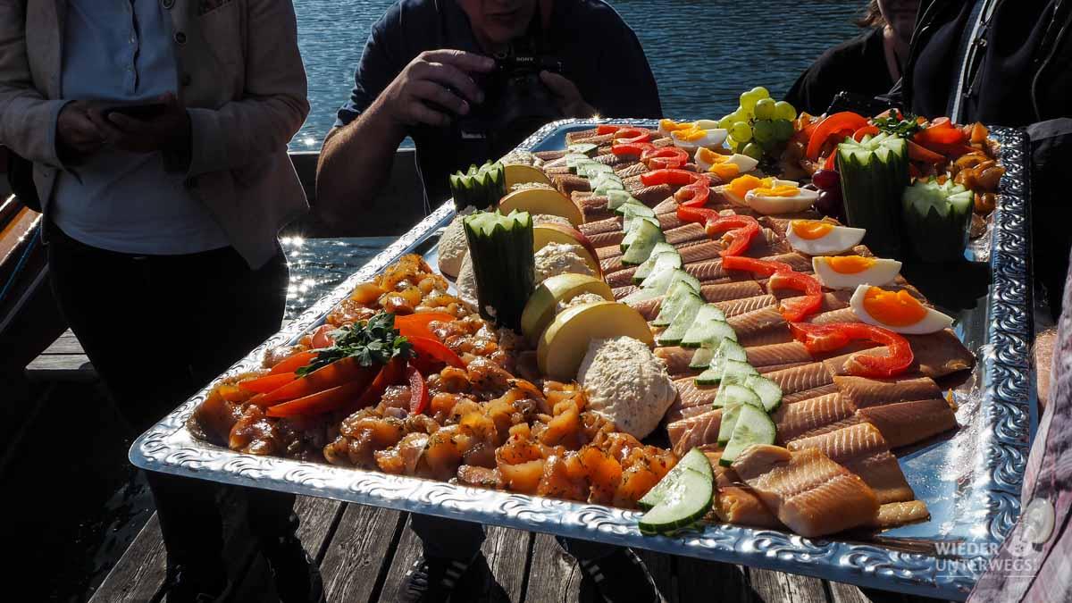 Flossenbox Fische am Boot