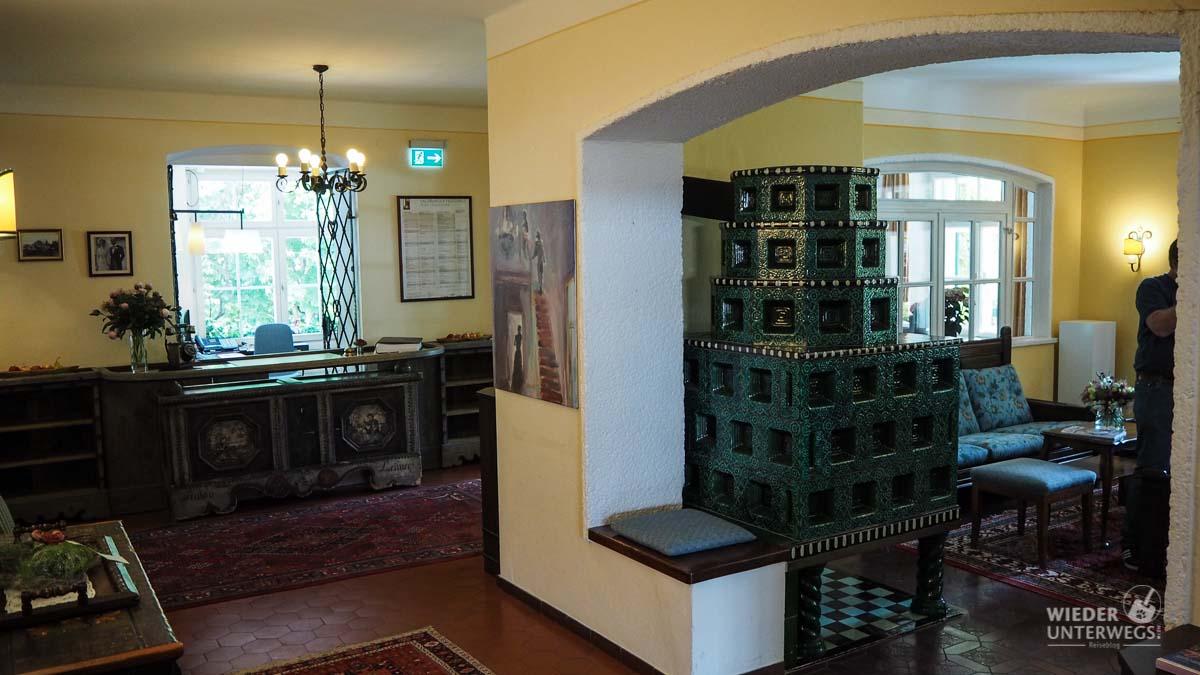 Indoor Rezeption Landhaus Appesbach Wolfgangsee