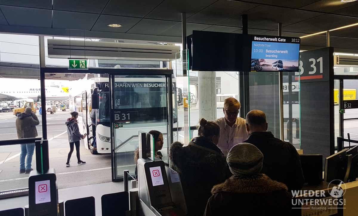 Boarding Besucherwelt Flughafen Schwechat