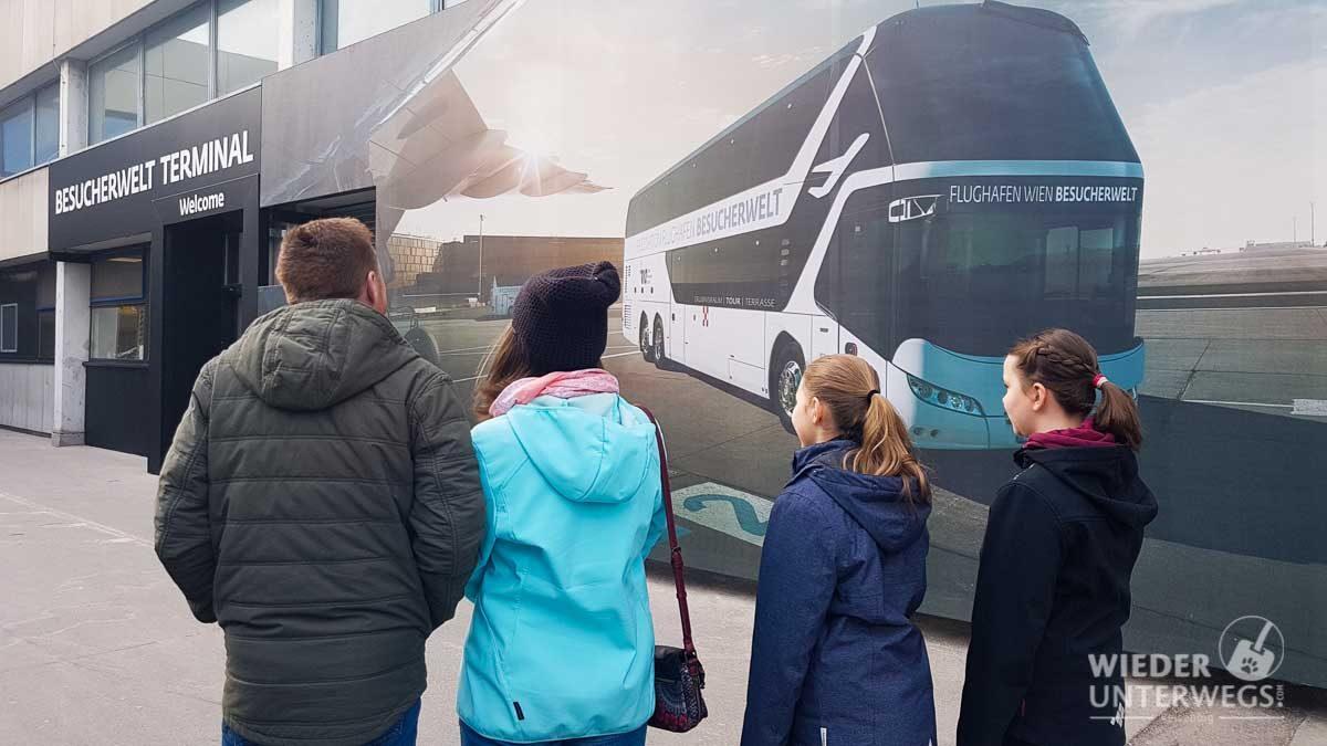 Besucherterminal Flughafen Schwechat Führung