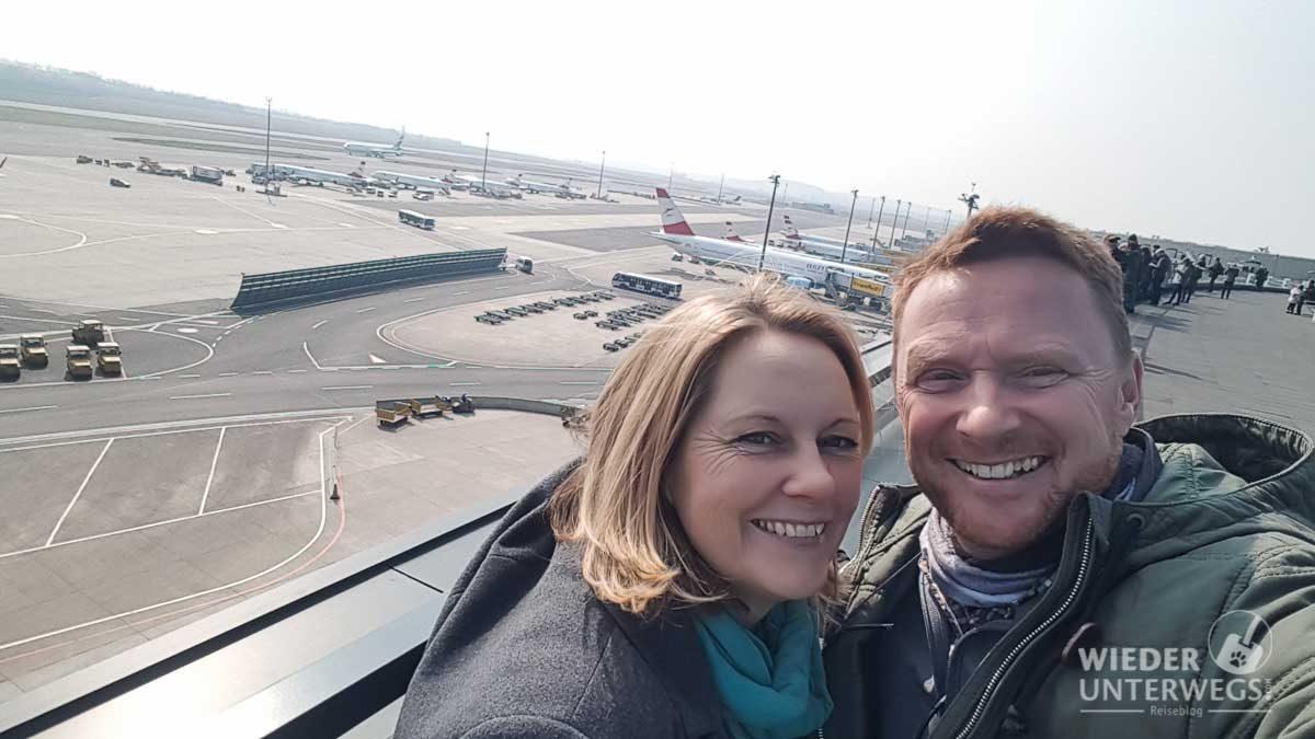 Wiederunterwegs Team am Flughafen Wien