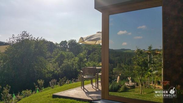 Alpen Bett Natur Terrasse