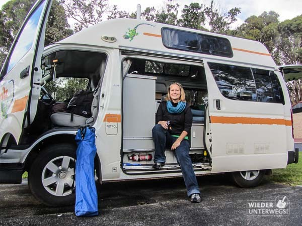 Im Campervan in Australien