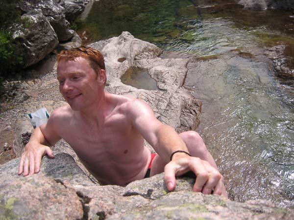 Klettern Flussbaden Tal Korsika