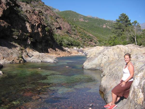 Wandern Flussbaden Korsika Fango