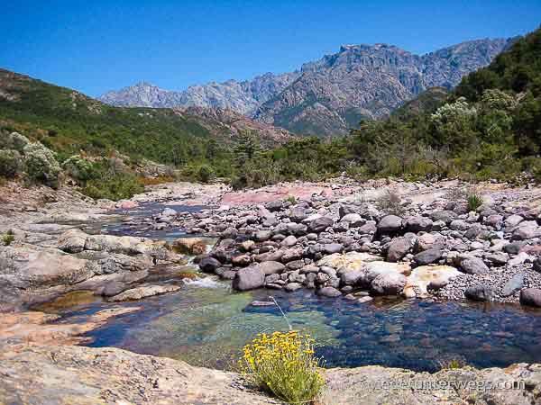 Korsika Flussbaden