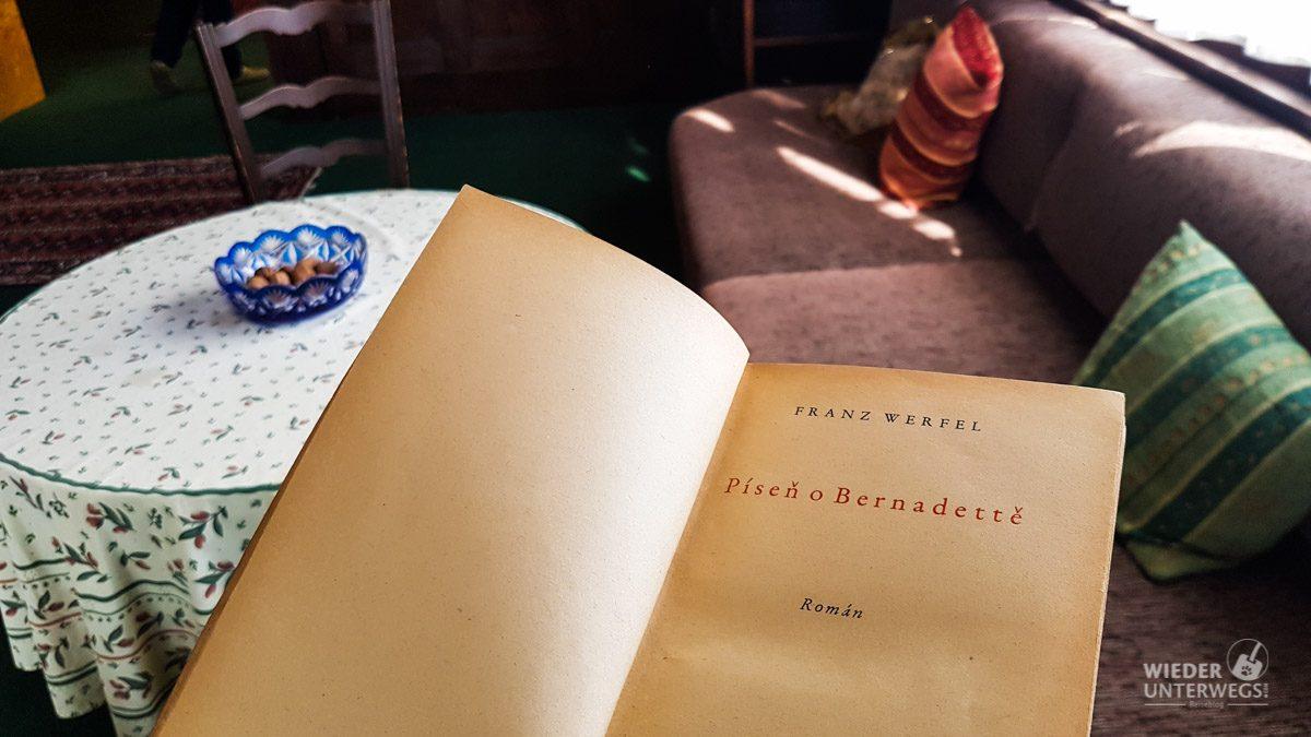 WErfel Buch in Pilsen WOhnung von familie brummel