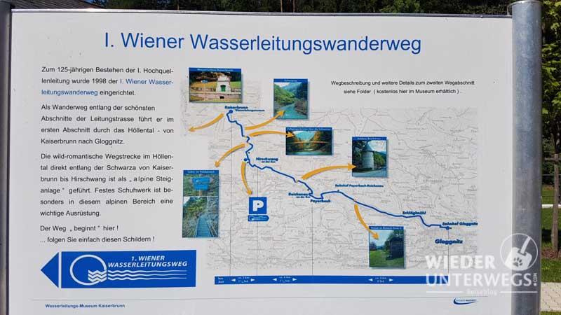 Infotafel Wasserleitungsweg Wanderung